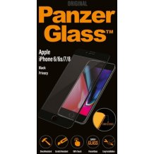 Panzer Glass Sikkerhedsglas Premium til iPhone 6/6s/7 Privacy, Jet Black-1