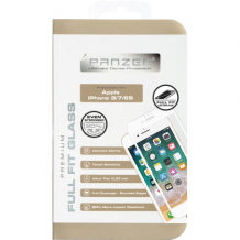 Panzer Tempered Glass til Apple iPhone 6/6S/7/8 - Full-fit Gennemsigtig, Hvid-1