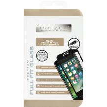 Panzer Tempered Glass til Apple iPhone 6 Plus/6S Plus/7 Plus/8 Plus - Full-fit Gennemsigtig, Sort-1