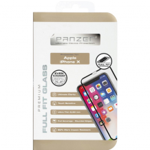 Panzer Tempered Glass til Apple iPhone X/XS - Full-fit Sort-1