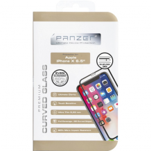 Panzer Tempered Glass til Apple iPhone XS Max - Full-fit Sort-1