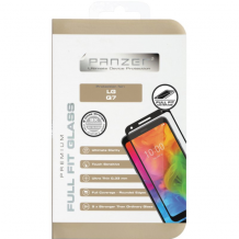 Panzer Tempered Glass til LG Q7 - Full-fit Sort-1