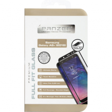 Panzer Tempered Glass til Samsung Galaxy A6+ (2018) - Full-fit Sort-1