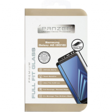 Panzer Tempered Glass til Samsung Galaxy A6 (2018) - Full-fit Sort-1