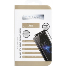 Panzer Tempered Glass til Sony Xperia XZ2 Compact, Curved  Sort-1