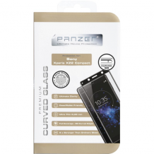 Panzer Tempered Glass til Sony Xperia XZ2 Compact - Full-fit Sort-1
