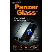 PanzerGlass Premium til Apple iPhone 6/6S/7/8 - Full-Fit Gennemsigtig, Sort-1