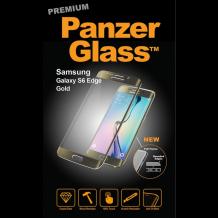 PanzerGlass Premium til Samsung Galaxy S6 Edge - Full-Fit Gennemsigtig, Guld-1