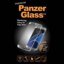 PanzerGlass Premium til Samsung Galaxy S7 Edge - Full-Fit Gennemsigtig, Sølv-1