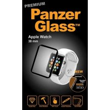 Panzer Glass Sikkerhedsglas Apple Watch 38mm med sort ramme