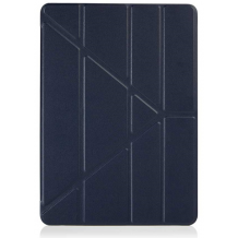"Pipetto iPad 9.7"" 2017/2018 ""vegan lamb skin"" Origami Case Navy-1"