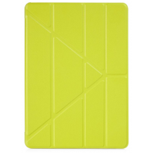 "Pipetto iPad 9.7"" 2017/2018 ""vegan lamb skin"" Origami Case Pistachio-1"