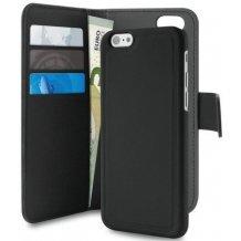 """iPhone 7 / 6 / 6S Plus (5.5"""") Magnet pung taske og cover 2-i-1 fra Puro Sort"""
