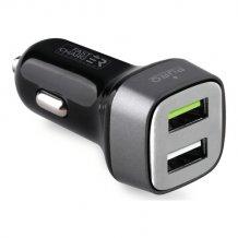 Puro Biloplader med 2 USB 2.4A Fast Charger Sort-1