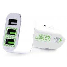 Universal 12/24v Billader med 3 USB porte og hurtigopladning