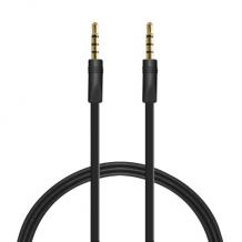 Puro fladt 3,5 mm AUX kabel - Sort-1