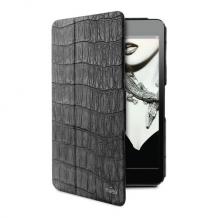 Puro iPad Mini Booklet Cover CROCODILE Magnet Stand Up Black-1