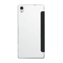 Puro Læder Wallet Cover med Nude Bagcover til Sony Xperia Z5-1