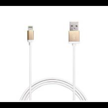 Puro Lightning til USB datakabel 1 meter, Apple godkendt Hvid/Guld-1
