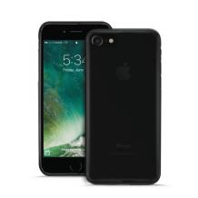 Puro Plasma Cover til Apple iPhone 7/8 - Gennemsigtig, Sort-1