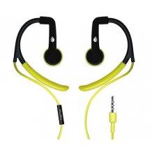 Puro Sport stereo headset med ørekroge og mikrofon, Lime