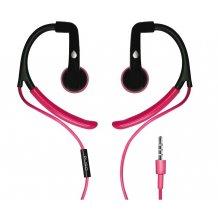 Puro Sport stereo headset med ørekroge og mikrofon, Pink