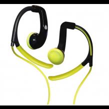 Puro Sport stereo headset med ørekroge og mikrofon, Lime-1