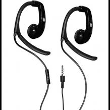 Puro Sport stereo headset med ørekroge og mikrofon, Sort-1