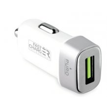 Puro Universal USB billader 2.4A Fast Charge Hvid