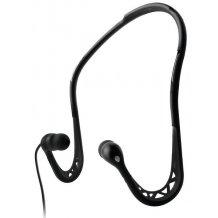 Puro Sport vandafvisende høretelefoner med mikrofon og nakkebøjle Sort