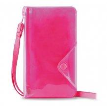 """Vandafvisende telefon taske til telefoner op til 5"""" Puro Booklet Water Wallet Pink"""