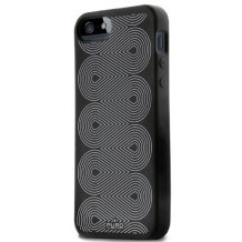 iPhone SE / 5 / 5S cover, Puro silikone - Sort