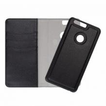 Redneck Duo Wallet Folio 2-i-1 Cover til Huawei Honor 8 Lite/P9 Lite 2017 - Sort-1