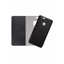 Redneck Duo Wallet Folio 2-i-1 Cover til Huawei Nova - Sort-1