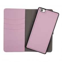 Redneck Duo Wallet Folio 2-i-1 Cover til Huawei P8 Lite - Pink / lyserød-1
