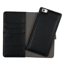 Redneck Duo Wallet Folio 2-i-1 Cover til Huawei P8 Lite - Sort-1