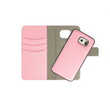 Redneck Duo Wallet Folio 2-i-1 Cover til Samsung Galaxy S6 - Pink / lyserød-1