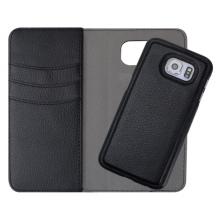 Redneck Duo Wallet Folio 2-i-1 Cover til Samsung Galaxy S6 - Sort-1