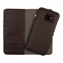 Redneck Duo Wallet Folio 2-i-1 Cover til Samsung Galaxy S7 Edge - Brun-1