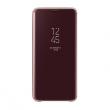 Samsung - EF-ZG960CF Clear View Standing Cover - G960F Galaxy S9 - Gold-1