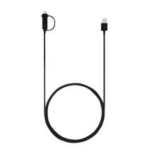 Samsung - EP-DG930DB Combo Cable USB Type-C + Micro-USB - Black-1