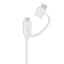 Samsung - EP-DG930DW Combo Cable USB Type-C + Micro-USB - White-1