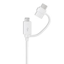 Samsung - EP-DG930DW Combo Cable USB Type-C + Micro-USB - White-1