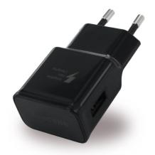 Samsung - EP-TA20EBE USB Charger + Micro USB Cable - Black-1