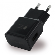 Samsung - EP-TA20EBE USB Charger + USB Type C Cable - Black-1