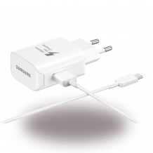 Samsung EP-TA300 - USB Charger + Data Cable USB to USB Type C - White-1