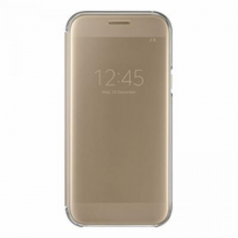 SAMSUNG GALAXY A5 (2017) (CLEAR VIEW COVER GOLD)-1