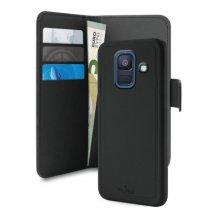 Samsung Galaxy A6 (2018) Magnet pung taske og cover 2-i-1 fra Puro - Sort-1