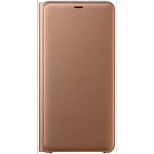 Samsung Galaxy A7 (2018) Wallet cover - Gold-1