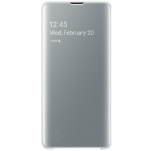 Samsung Galaxy S10 Clear view cover - White-1